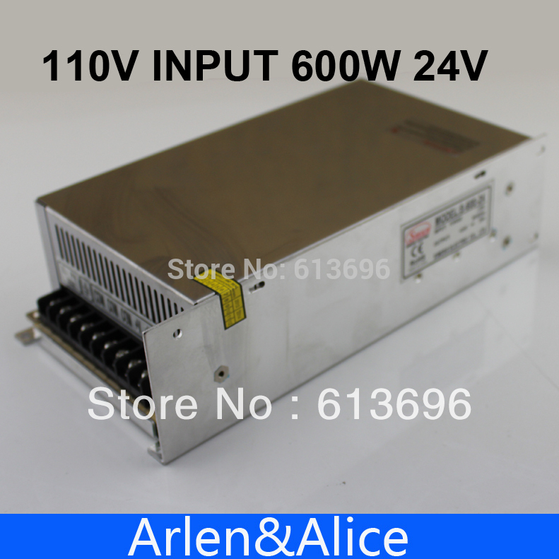 600W 24V 110V input Single Output Switching power supply for LED Strip light AC to DC 1200w 12v 100a adjustable 220v input single output switching power supply for led strip light ac to dc