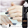 Perfect Summer Soak Off Painted Nail Gel Polish DIY UV Led Long Lasting Gel Drawing Nail Gel Pen 6ml Gel Liner