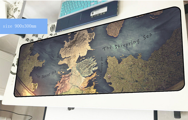 Game of Thrones mousepad 900x300x2mm Beautiful gaming mouse pad gamer mat present game computer desk padmouse