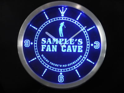 nctf-tm Name Personalized Custom Golf Fan Cave Man Room Bar Neon Sign LED Clock Wholesale Dropshipping