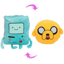 Adventure Time Jake BMO Transformation Soft Plush Pillow Cushion Toy 33cm цены