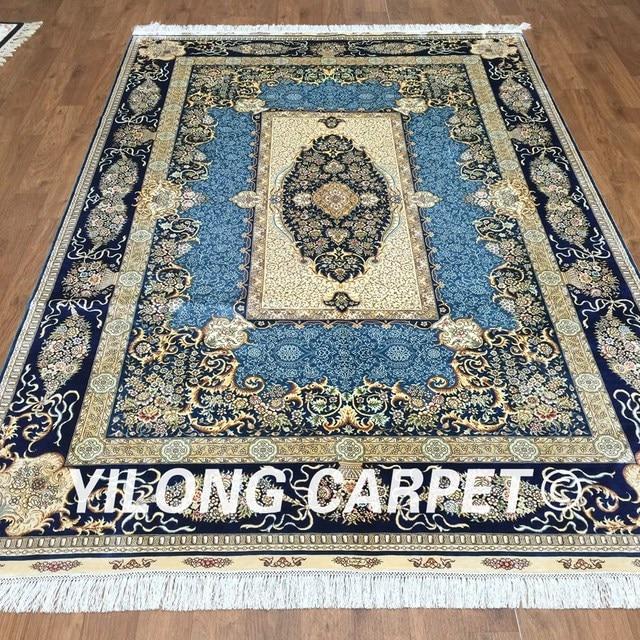 Perserteppich blau  Aliexpress.com : Yilong 6'x9' handgestrickte perserteppich blau ...
