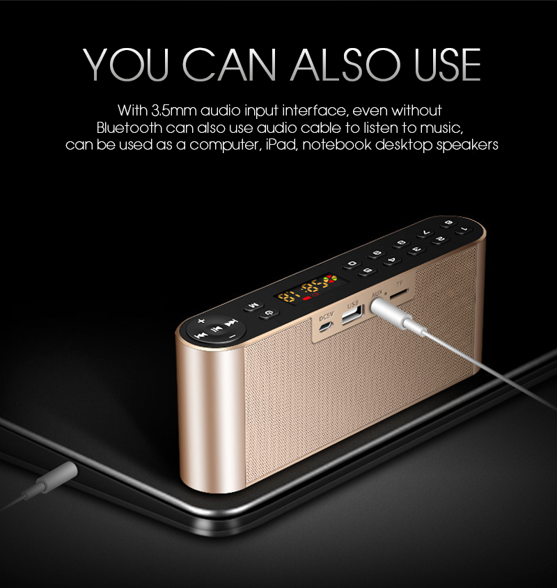 TOPROAD HIFI Wireless Bluetooth Speaker With Super Bass Dual Speakers Soundbar And FM Radio 3