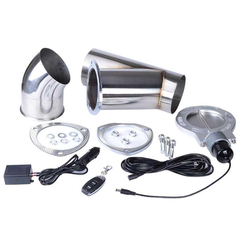 4.0 Stainless Steel Y Pipe Exhaust Cutout Car Muffler Exhaust Catback Downpipe Exhaust Cut Out With Remote Switch