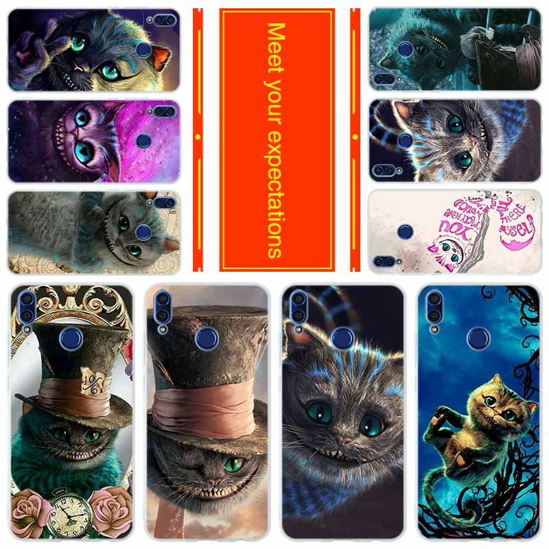 Чехол для HUAWEI Honor 20 10i lite Honor 8X a max 9lite 7 6 X 7a pro V20 Play Case alice с прозрачным стеклом cheshire cat image