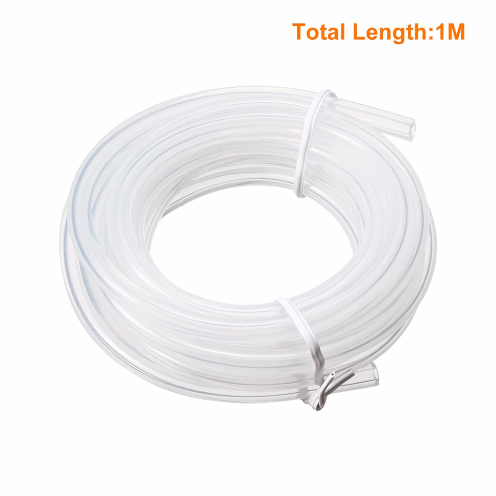 UXCELL Clear Transparent Silicone Translucent Tube Water Air Pump <font><b>Hose</b></font> Pipe Homebrew <font><b>Hose</b></font> <font><b>2mm</b></font> x 5mm High Quantity image