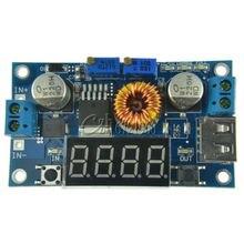 מתכוונן 5A CC/קורות חיים כוח צעד למטה הטעינה מודול LED Driver W/USB מד מתח