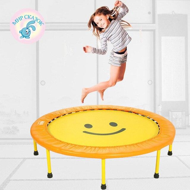 Россия бесплатная доставка Крытый батут складной батут прыжки кровать для взрослых детей домой фитнес-потеря веса