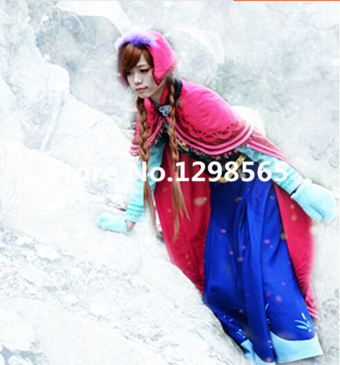 Fatasia anna robe adulte princesse costume reine des neiges cosplay vêtements halloween enfants costumes pour filles enfants anna costume