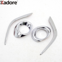 Fit For Mazda 6 M6 Atenza Sedan 2013 2014 2015 ABS Chrome Front Foglight Fog Light Cover Trim Car Protect Accessories