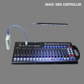 384ch Stage Light Dmx Controller DJ Light Dmx512 Console Can Work With USB  Power Bank For Disco Light Party Lights