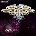 2019 nuevo diseño cristal luz de techo diamante LED lámpara de cristal para comedor anillo círculo Lustres Lamparas de techo A casa