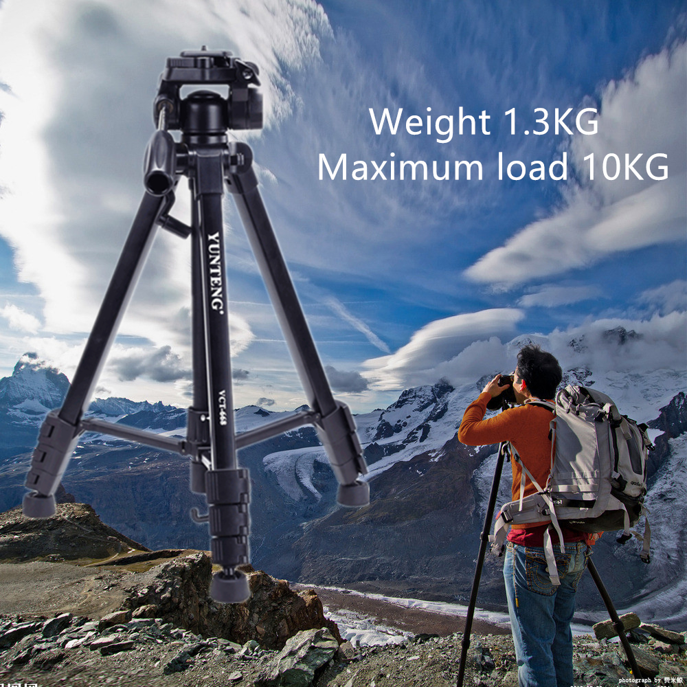ФОТО MESEVEN T690 LightWeight Portable Aluminium camera Tripod With Quick Release Plate Ball Head for Camera phone projector