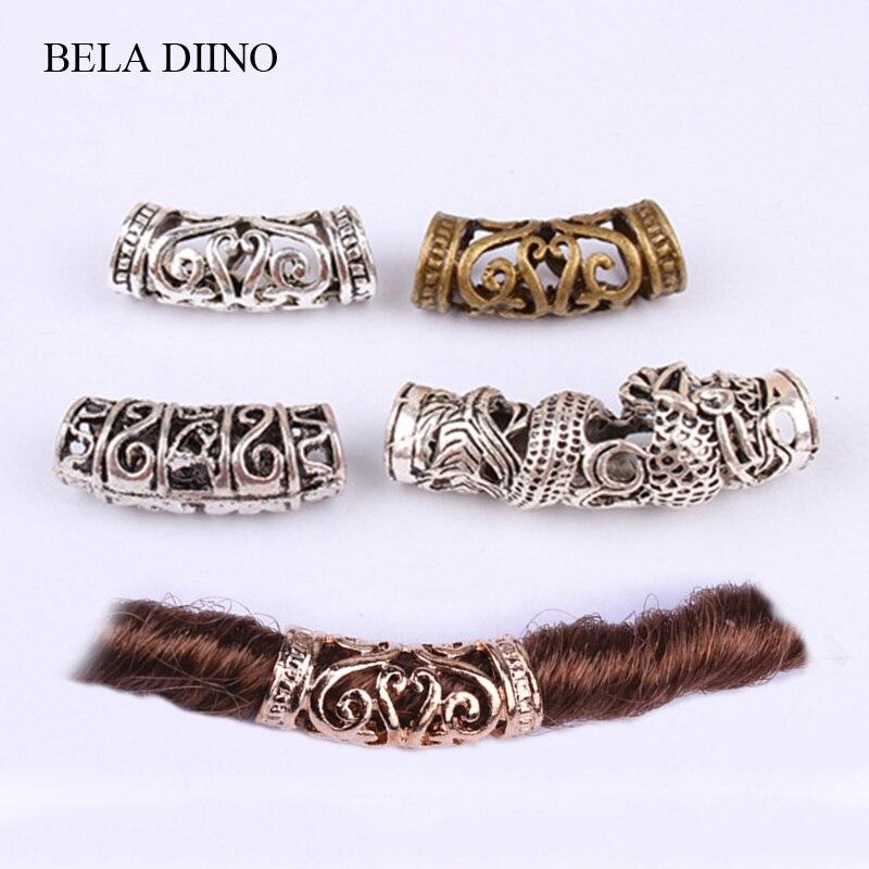 Decoration-Accessories Jewelry Hair-Ring Dreadlock-Cuffs Braid Copper-Tube Metal African-Hair