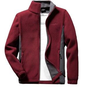 Image 4 - Мужская теплая флисовая куртка Anbican, повседневная весенняя куртка с воротником стойкой, пальто большого размера 6XL, 7XL, 8XL, 9XL, 2019
