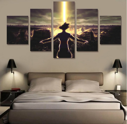 5 Panels Modular Custom Made Animal Picture Home Room Decor Picture Canvas Paintings Wall Art for Home Decorations Wall Decor