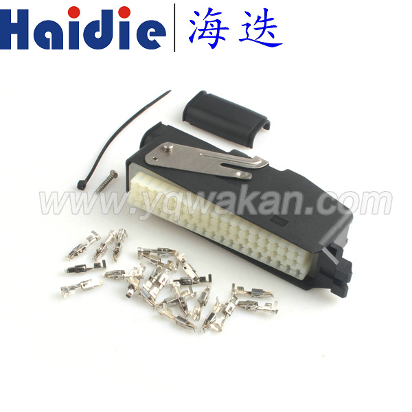 Free shipping 1set 55pin ECU auto electric cable  connector with terminals 368005-1&85251-1
