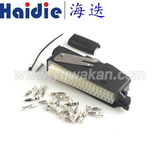 Livraison gratuite 1 set 55pin ECU auto électrique câble connecteur avec bornes 368005-1 et 85251-1