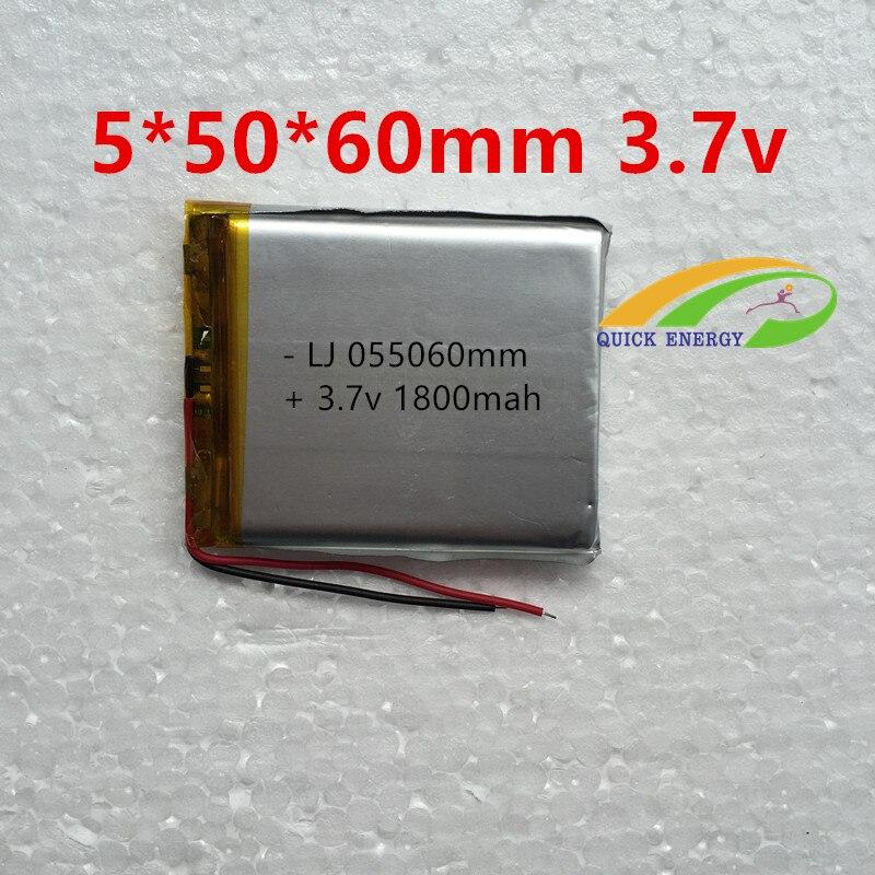Thium po batería recargable 505060 3.7 v 1800 mah batería de ...