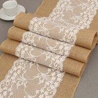 1 Stück Rectangle Orchidee Bestickt Weiß Spitze Leinen Tischläufer Stuhl Schärpe Für Hotel Hochzeit Esstisch Dekoration