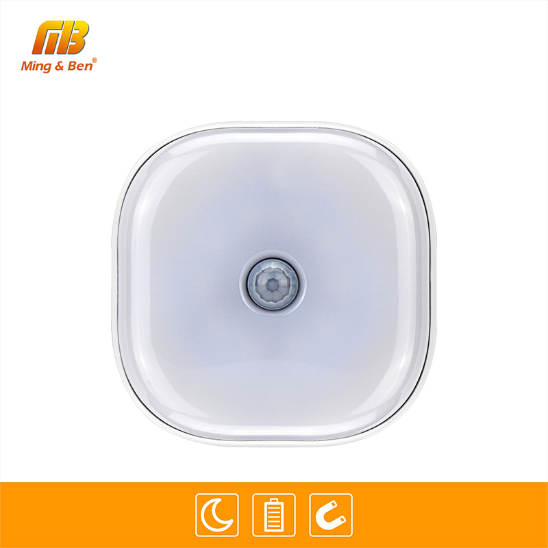 LED PIR Sensor Night Light Motion Sensor Lamp 10leds Activated Wall Lights Auto On Off AAA Battery 3M Magnet Night Light