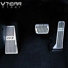 Vtear для Mazda CX3 CX-3 2018 2019 ускоритель автомобиль масло для ног педали муфта сцепления тормозной дроссель педаль аксессуары для интерьера