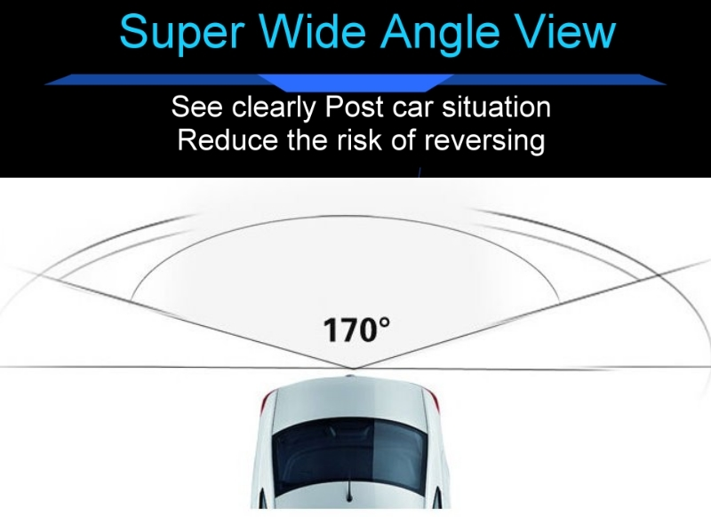 car rear view camera trasera Auto reverse backup parking Night Vision Waterproof HD 7090