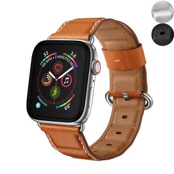 Chính hãng da dây đeo cho apple watch ban nhạc 42mm 38mm 44mm 40mm iwatch loạt 4 3 2 1 phụ kiện thay thế vòng đeo tay vành đai đồng hồ