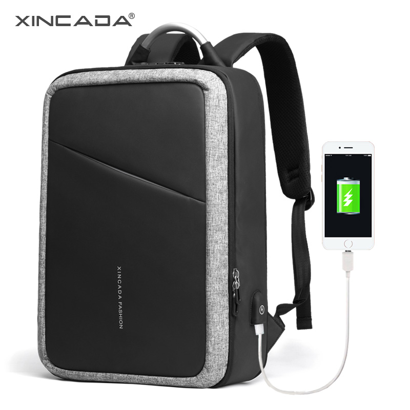 XINCADA Anti Theft Backpacks Laptop Travel Backpack Bagpack Back Pack School Bookbag Charging Backpack for Men xincada men backpack vintage canvas backpack rucksack laptop travel backpacks school back pack shoulder bag bookbag