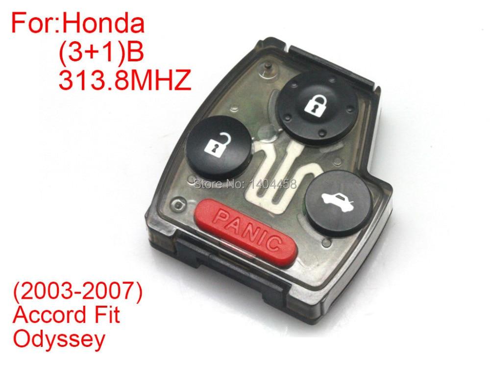 Alta Qualità chiave a distanza 3 + 1 pulsanti split (313.8 MHZ chiave a  doppia iniezione di colore non perde colore) per Honda 03-07 accord Odyssey  fit fc7e5b1af63