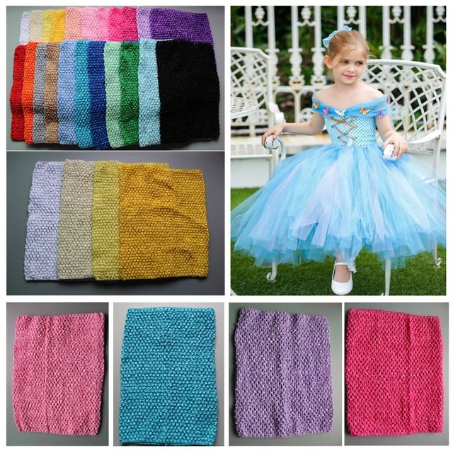 2017 Retail Kids 12 Inch Tutu Crochet Tube Top Girl Stretch Colored