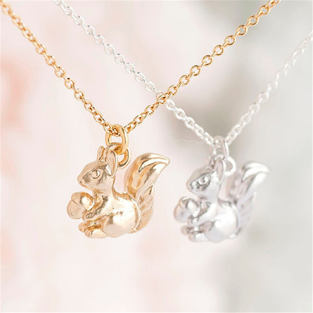 Tiny baby squirrel necklace gold silver squirrel pendant tiny baby squirrel necklace gold silver squirrel pendant dropshipping chipmunk animal jewelry 30pcs aloadofball Image collections