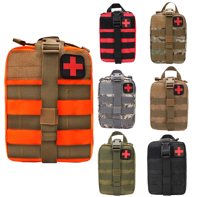 Image 2 - Hot Outdoor Molle Medical Package Utility Tactical Pouch Medical First Aid Kit Patch Bag Cover Hunting Emergency Survival Bag-in Safety & Survival from Sports & Entertainment