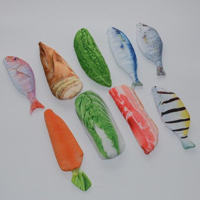Овощи пеналы мешок Каваи estuches lapices escolares рыбы estojo эсколар menina pencilcase мешок papeleria plumier