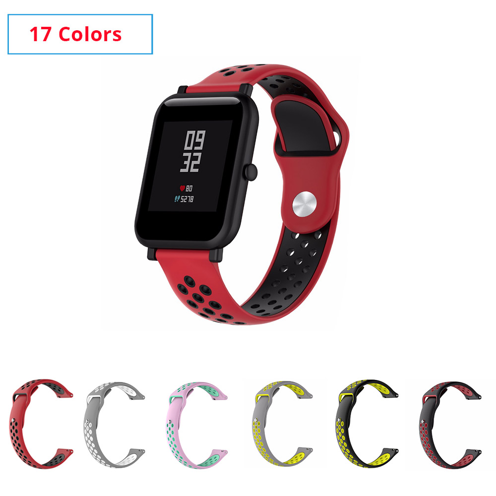17 Colors Silicone Band For Amazfit Bip Replace For Xiaomi Huami Amazfit Band Bracelet Huami Amazfit Bip Bit Wrist Strap 20mm