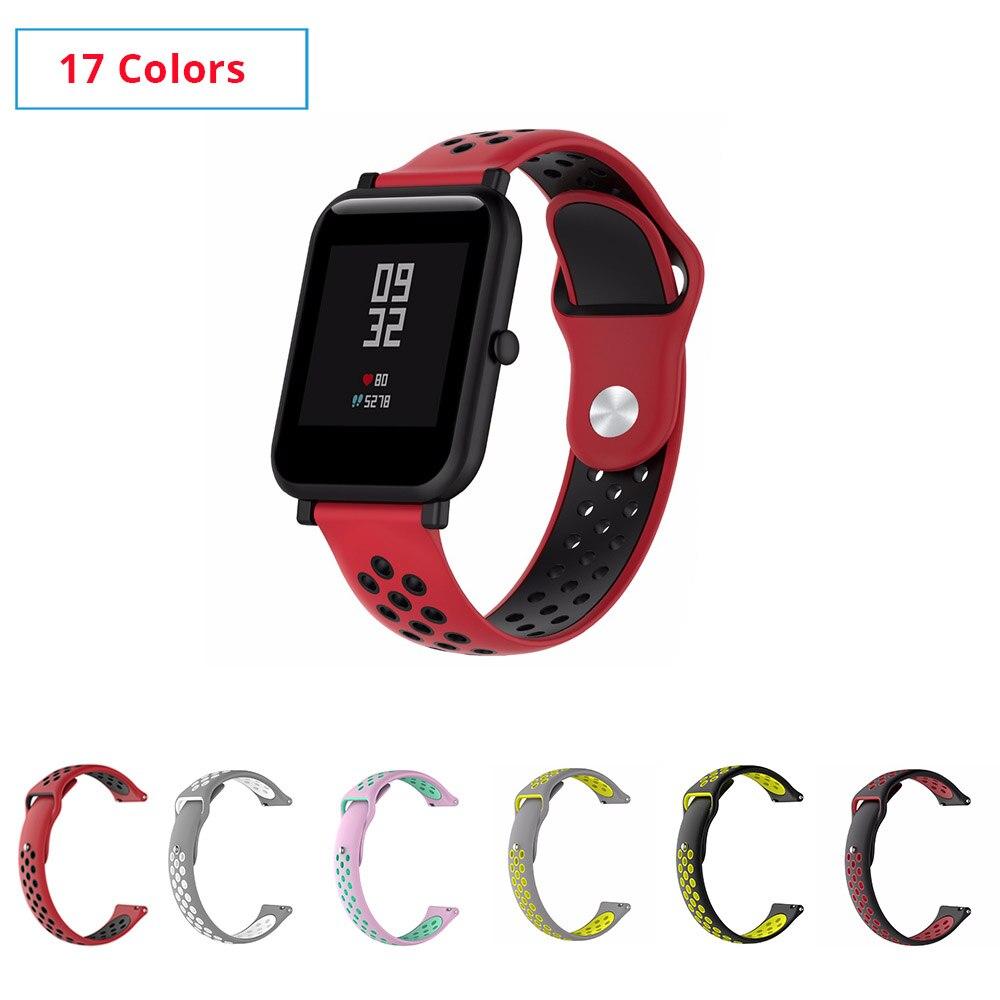 17 Colors Silicone Amazfit Bip Watchband Replace for Xiaomi Huami Amazfit Band Bracelet Huami Amazfit Bip Bit Wrist Strap 20mm умные часы xiaomi huami amazfit bip gray white cloud