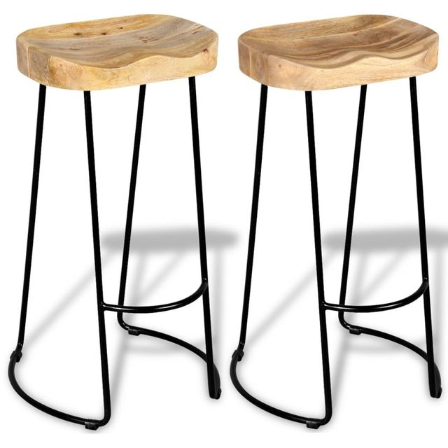 industrial style dining chairs electric chair death 2pcs gavin bar stools solid wood top furniture us fr de es stock