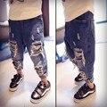 Meninos Jeans Rasgado Segurar Outono Calça Jeans Meados Cintura Solta Calças Jeans Crianças Calças Meninos Crianças Roupas