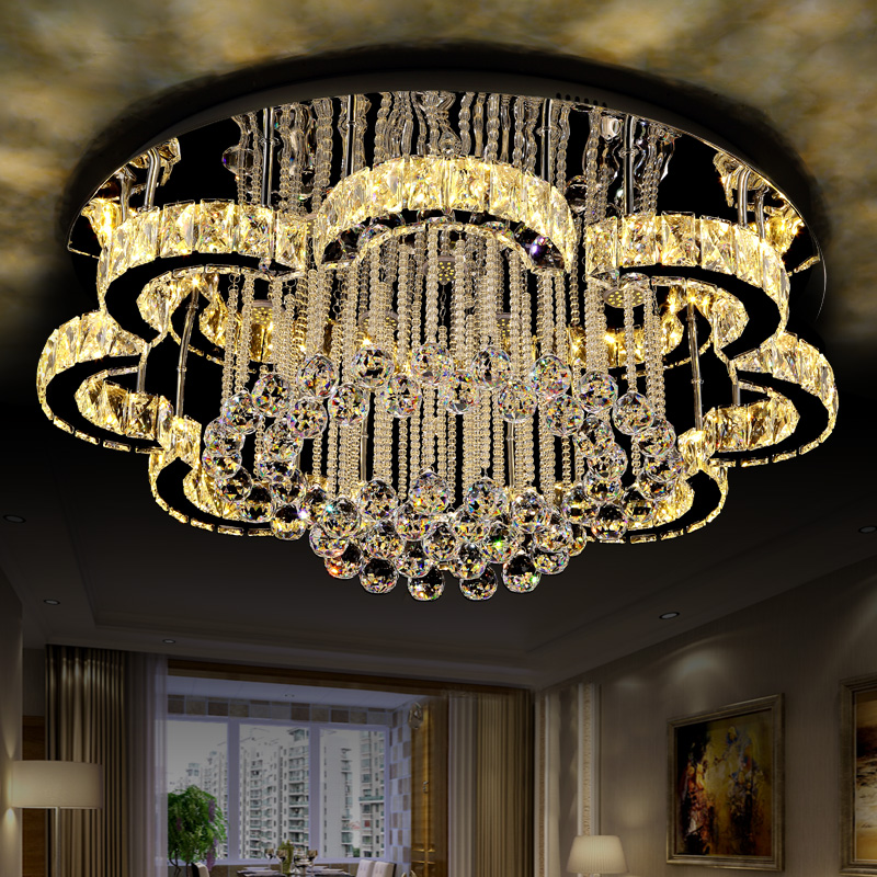LED Ceiling Lights Modern K9 crystal luminaires illumination home fixtures living room lamps bedroom Ceiling lighting все цены