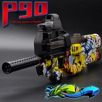 Outdoors Children Baby ToyP90 Electric Toy Gun Assault Sniper Graffiti Edition Weapon Bursts Pistol Gun Soft