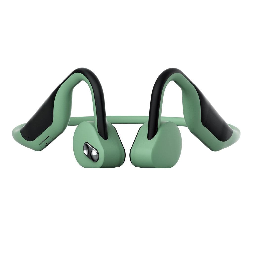 Écouteurs de Conduction osseuse sans fil 120 mAh imperméables à l'oreille ouverte V5.0 casques de sport Bluetooth
