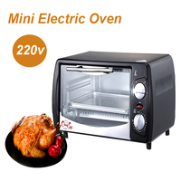 Household Baking Mini Oven 12L Stainless Steel Housing Glass Electric Oven Cake Toaster Kitchen Appliances 220v 1pc