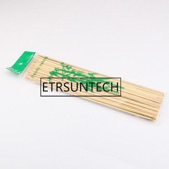30*0.3cm Natural Bamboo Skewers Sticks BBQ Barbeque Fruit Kabob Kebab Fondue Grilling Stick Skewer