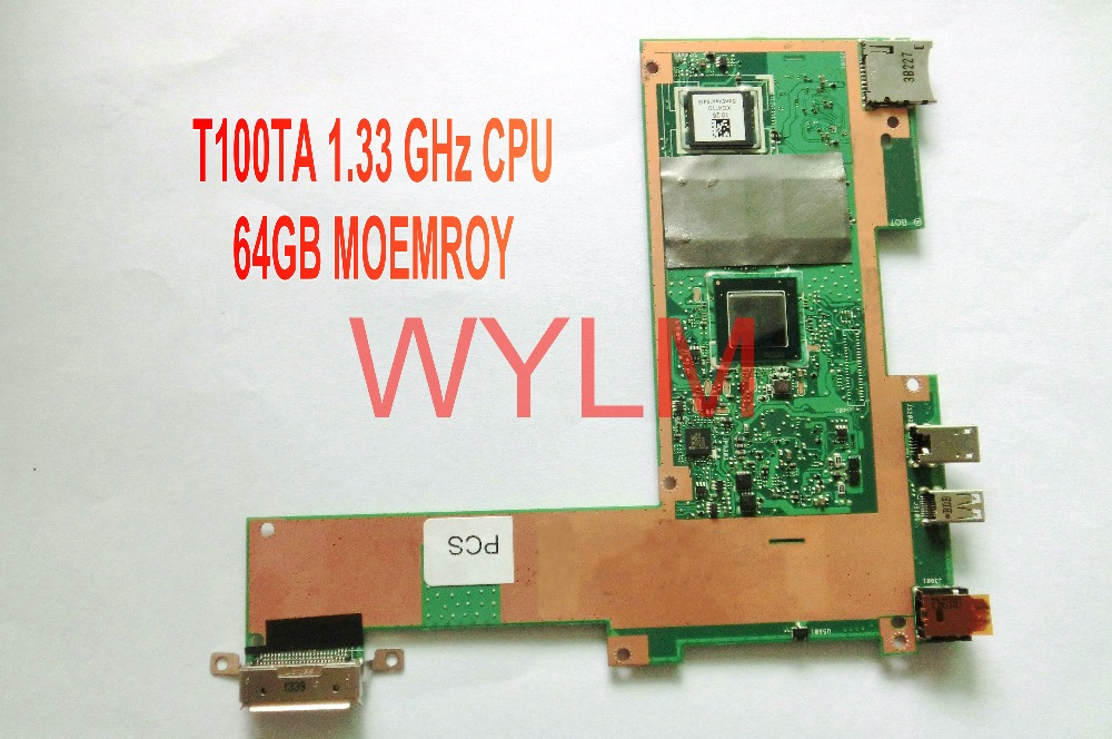 free shipping original T100T T100TA tablet 64GB motherboard MAIN BOARD 1.33GHz CPU 60NB0450-MB2060 tested fully 100% original motherboard for nikon d600 mainboard d600 main board dslr camera repair parts free shipping