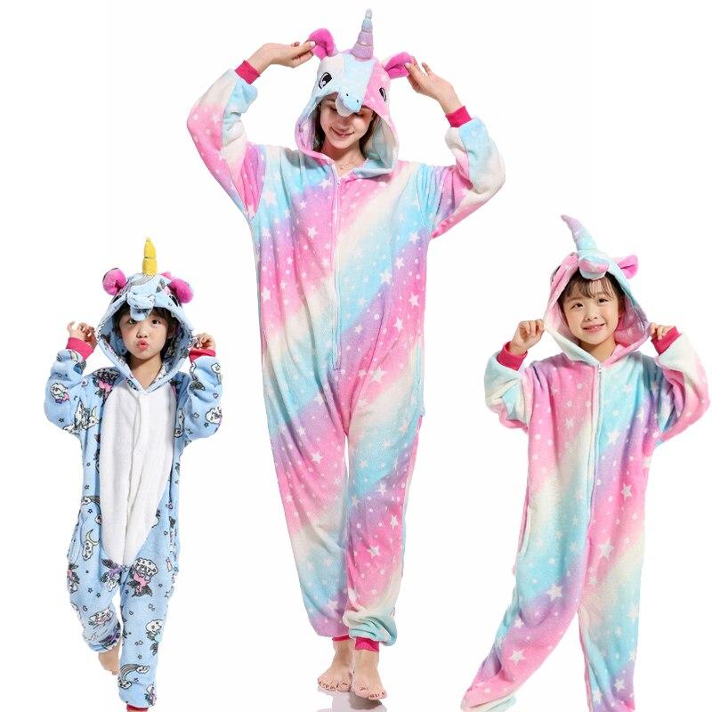 Family Christmas Pajamas Animal Pajamas Winter Warm Cartoon Sleepwear family matching clothes Mother Kids Women Men Boys Girl