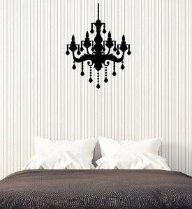 Image 1 - Aplique de pared de vinilo para dormitorio retro, lámpara de techo para dormitorio de estilo retro, sala de estar, papel tapiz art deco 2WS17