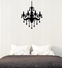 Vinyl wall applique chandelier bedroom room retro interior ceiling lamp style bedroom living room home art deco wallpaper 2WS17