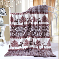 Warm Soft Fleece Blankets large size Double Layer Thick Plush Throw on Sofa Bed Plane Plaids Solid Bedspreads Home Textile