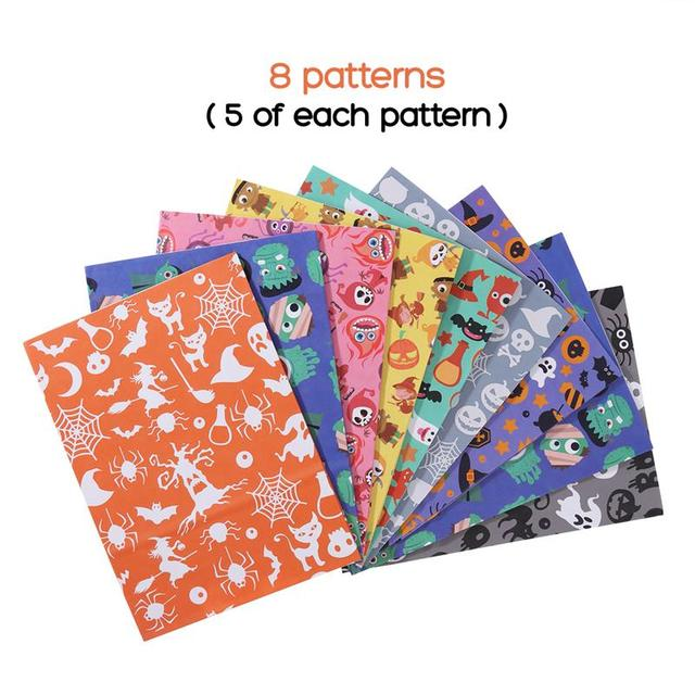 40Pcs Halloween Paper Treat Bags Holiday Festival Party Favor Candy Bags Treat Sacks for Party Gift Candy Cookie Cupcake Toy