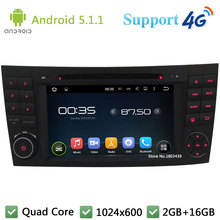 Quad Core 1024*600 Android 5.1.1 Car DVD Player Radio Stereo DAB 4G WIFI GPS Map For Benz W211 W463 W219 W209 E G CLK CLS Class